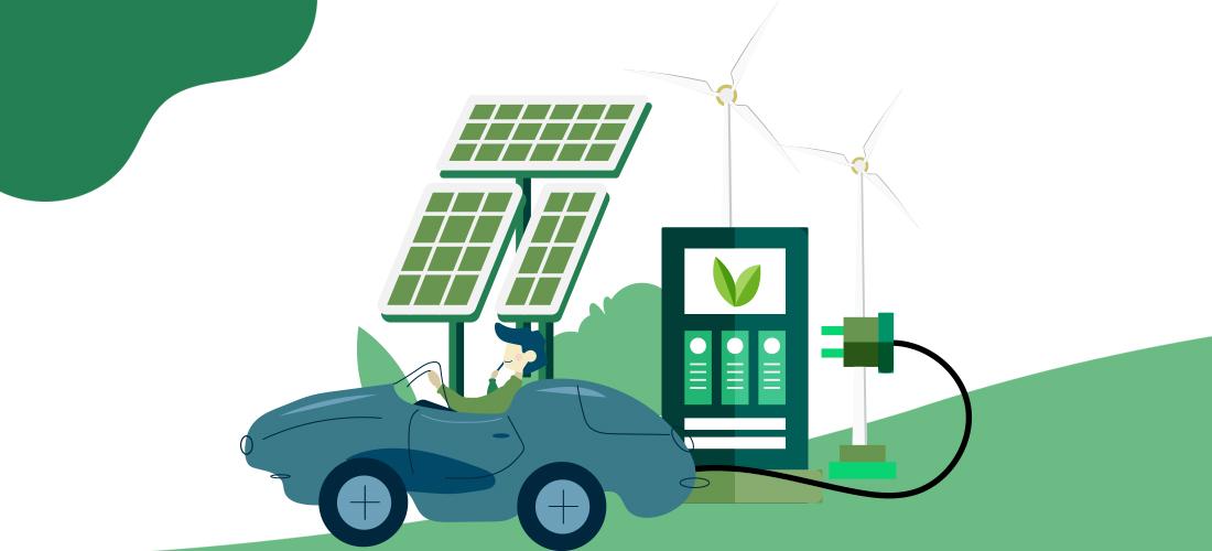Ilustración del coche eléctrico